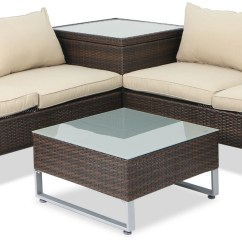 Sofa Box Ikea Karlstad White Leather Royal Synthetic Rattan Outdoor Set With Storage Brown