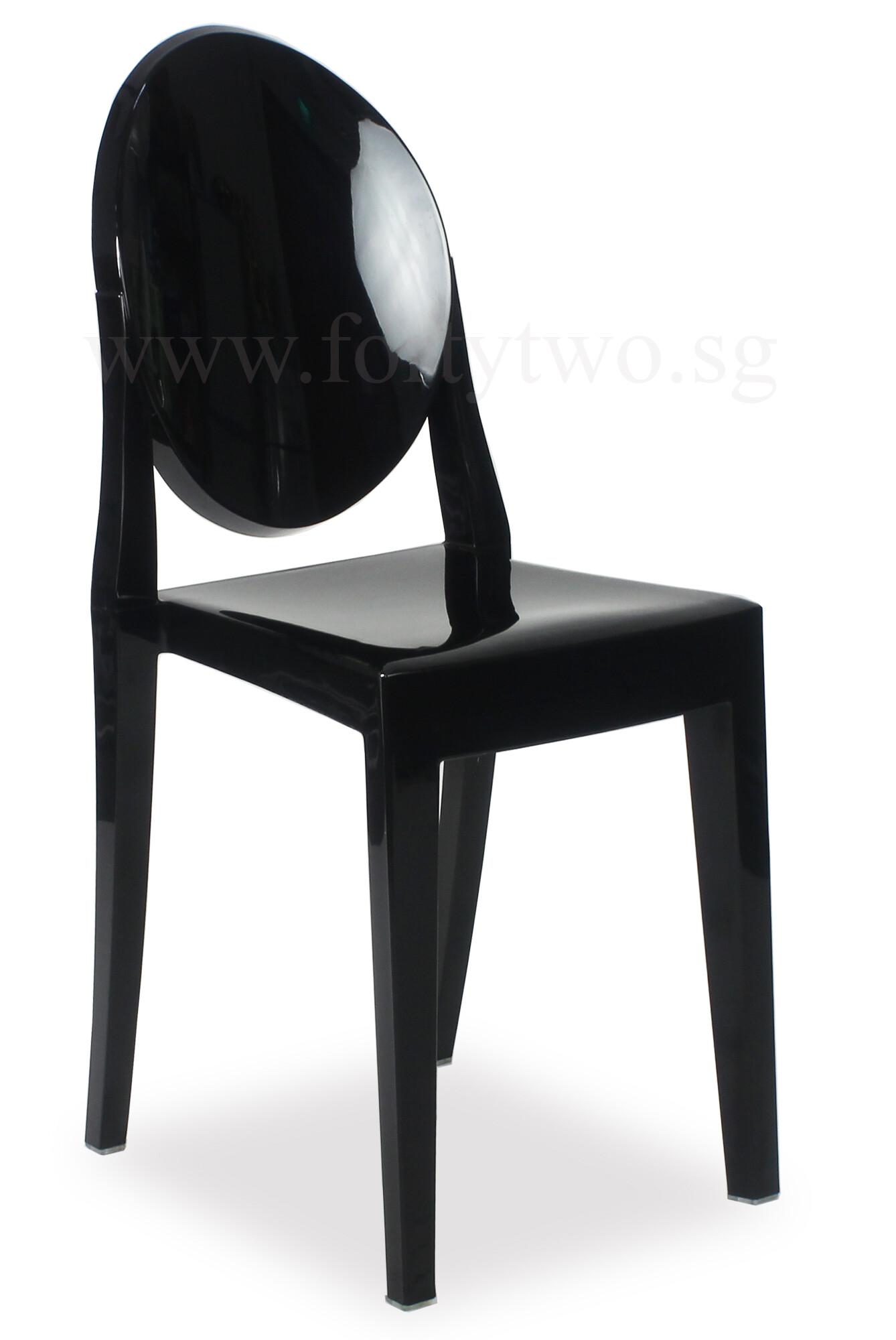 ghost chair replica large slipcover designer louis black furniture home decor