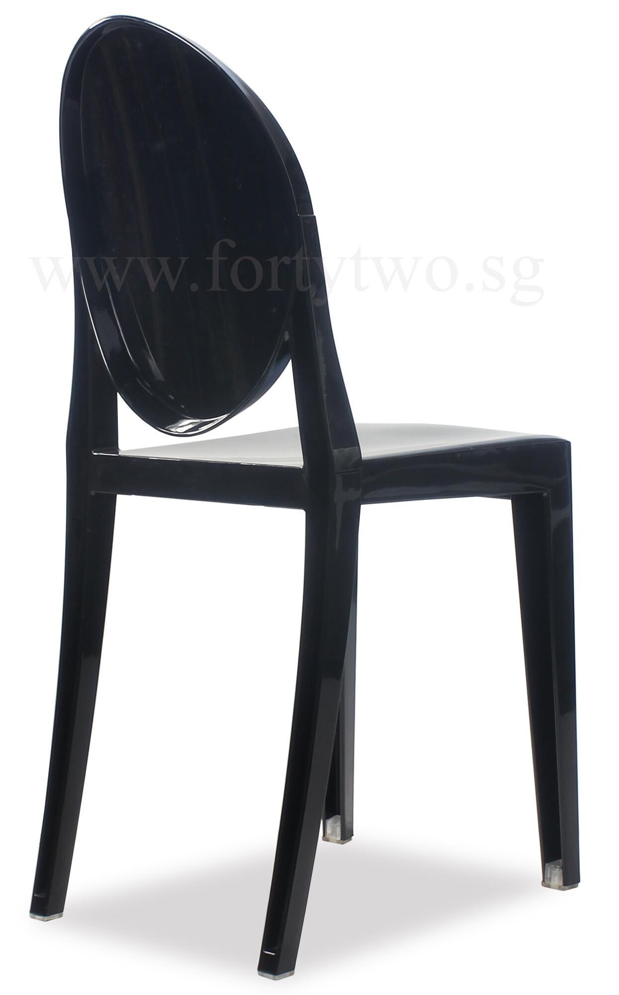 ghost chair replica gunlocke value designer louis black furniture