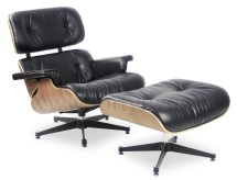 Eames Replica Lounge Chair Black Leather Furniture