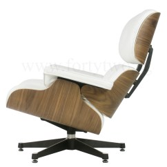 White Eames Lounge Chair Replica Round Cushions Designer Leather Furniture Regular Price S 1 799 00