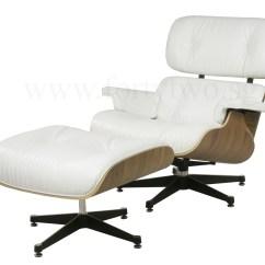 White Eames Lounge Chair Replica Into Bed Designer Furniture