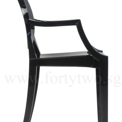 Ghost Chair Replica Slipcovers For Patio Cushions Designer Louis Arm Black Furniture