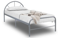 Bay Single Metal Bed Frame (Silver)