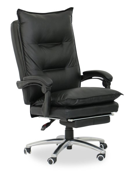 executive office chairs Deluxe Pu Executive Office Chair (Black) | Furniture