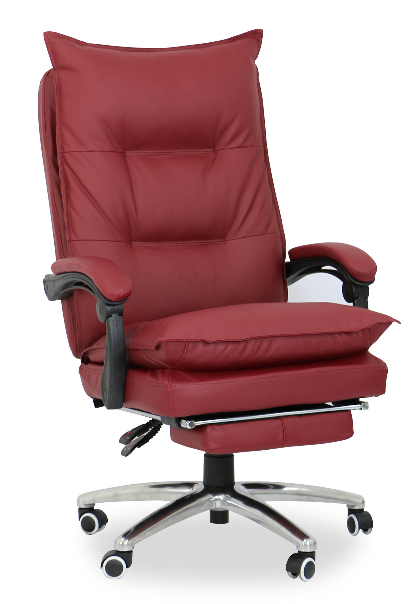 maroon office chairs wheelchair code deluxe pu executive chair furniture
