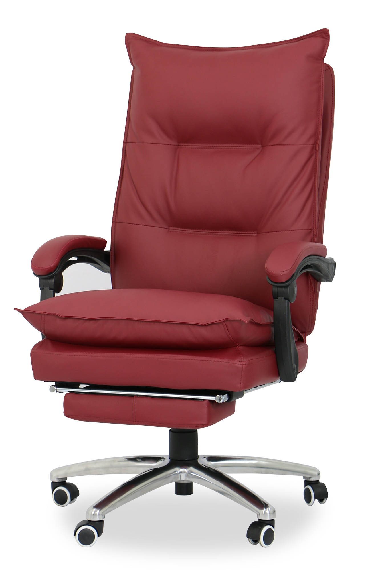 maroon office chairs iron dining deluxe pu executive chair furniture