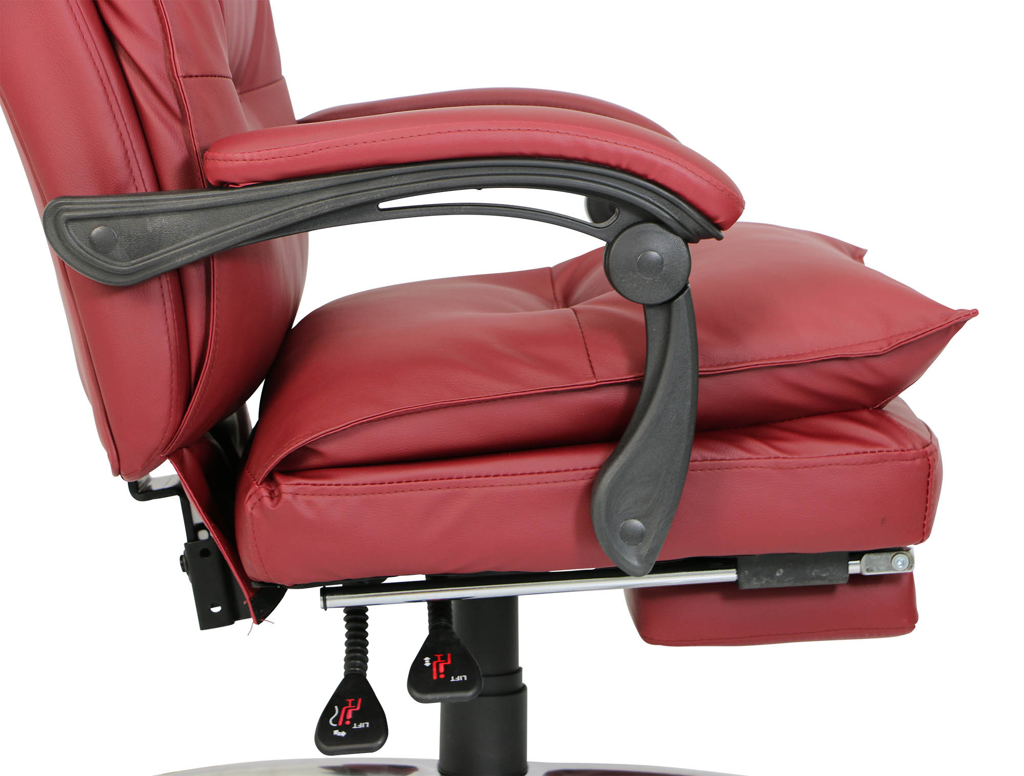 maroon office chairs fabric to recover dining deluxe pu executive chair furniture