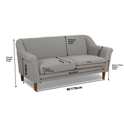 Length Of 2 Seater Sofa Led Hire Dimensions A 3 Gradschoolfairs