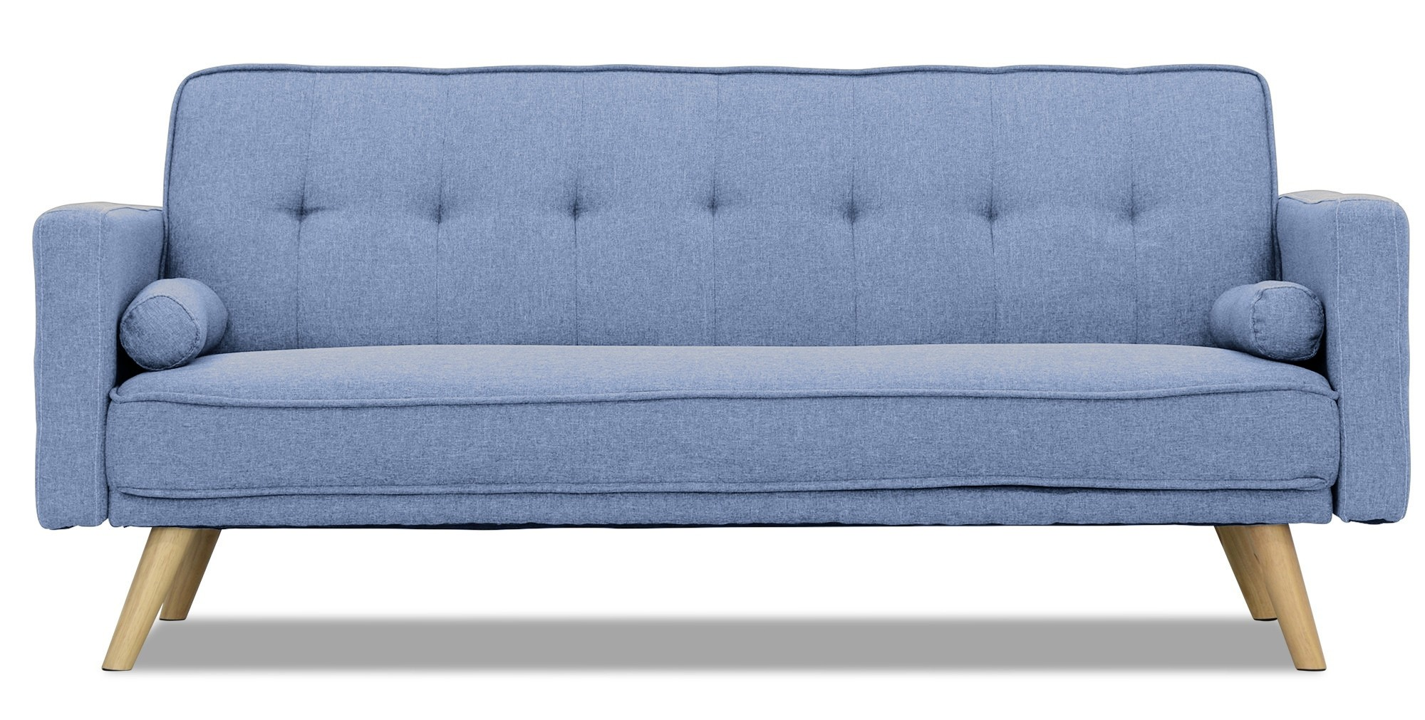 blue denim sofa bed good sofas for dog owners rhona beds and day