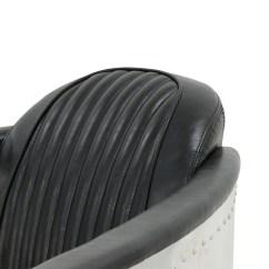 Aviator Chair Replica Wanderer Accessories Designer Arm In Black Pu Leather
