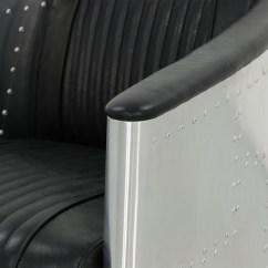 Aviator Chair Replica Bernhardt Leather Designer Arm In Black Pu