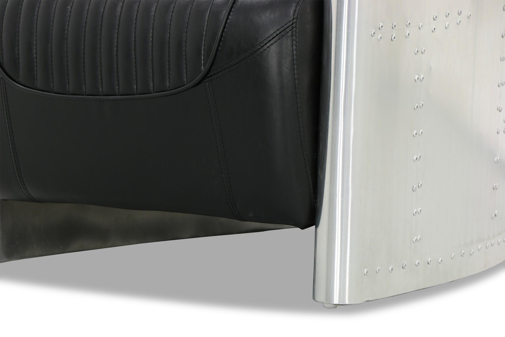 aviator chair replica serta office parts designer arm in black pu leather