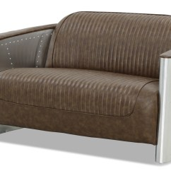 Aviator Chair Replica Big Covers Designer 2 Seater Sofa In Old Brown Pu
