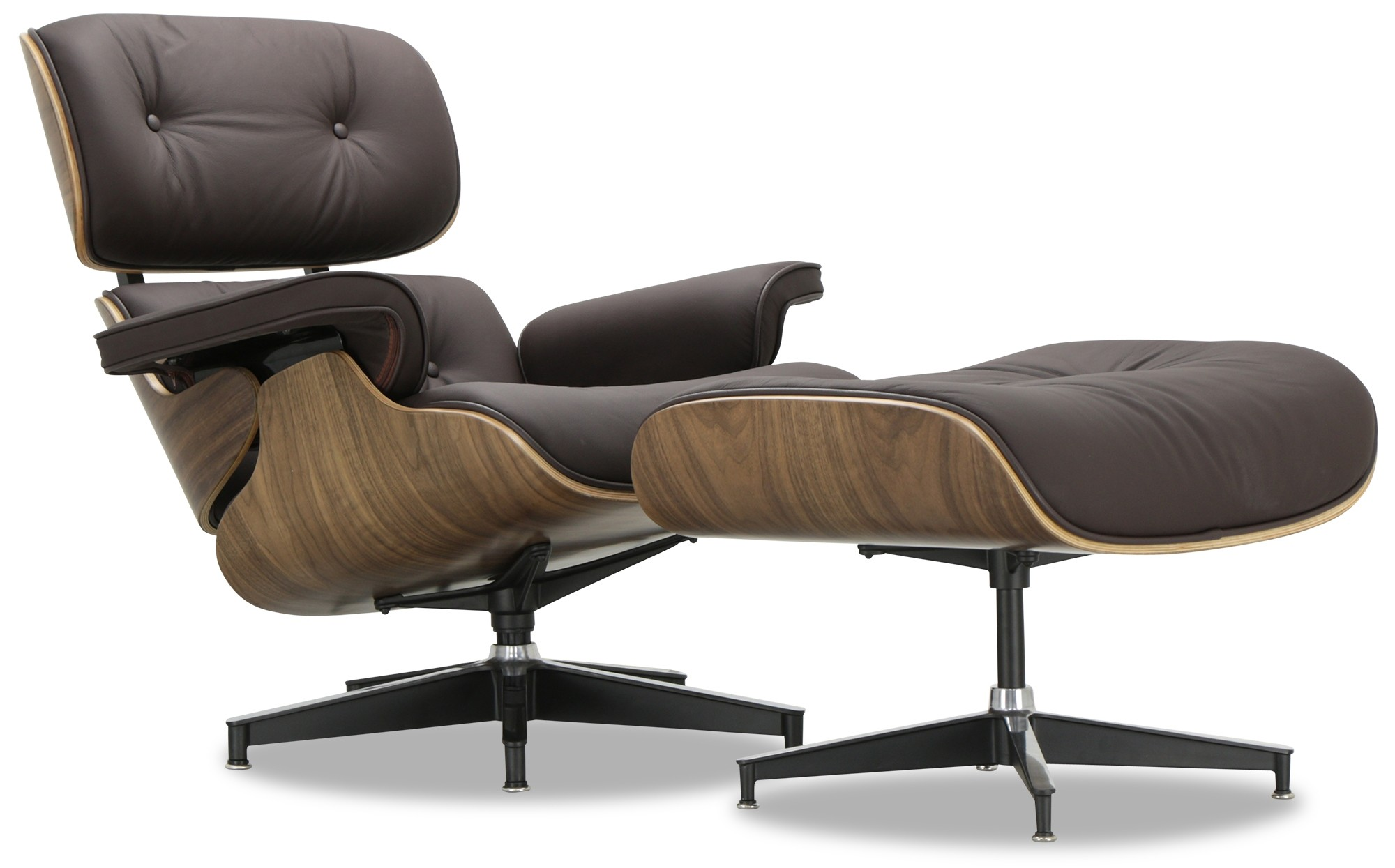 eames 2 seat sofa replica how to patch a tear in leather designer lounge chair dark brown