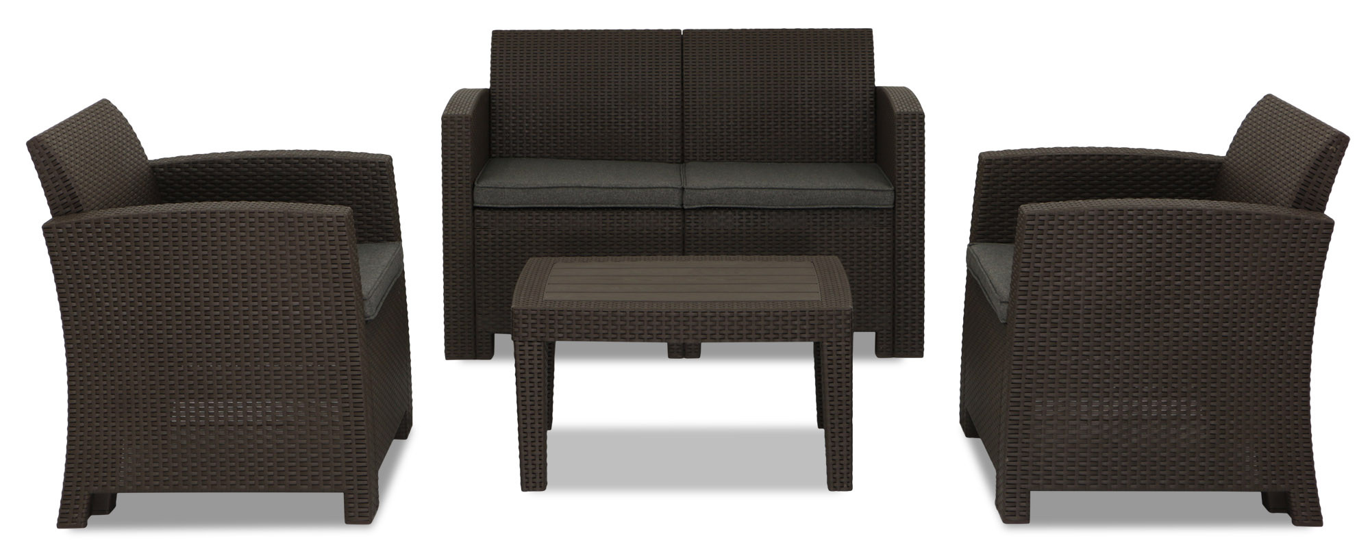 four seat sofa set sleeper sofas in dallas texas nina 4 seater outdoor brown furniture and home