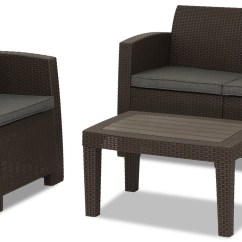 Outdoor Sofa Singapore Table Console Nina 4 Seater Set Brown Furniture And Home