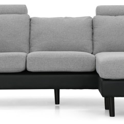 Grey Fabric L Shaped Sofa Sectional Set Up Earvin Shape Pu Black With Light