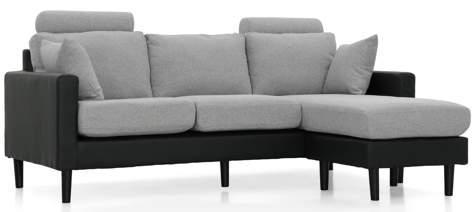 grey fabric l shaped sofa custom design los angeles earvin shape pu black with light