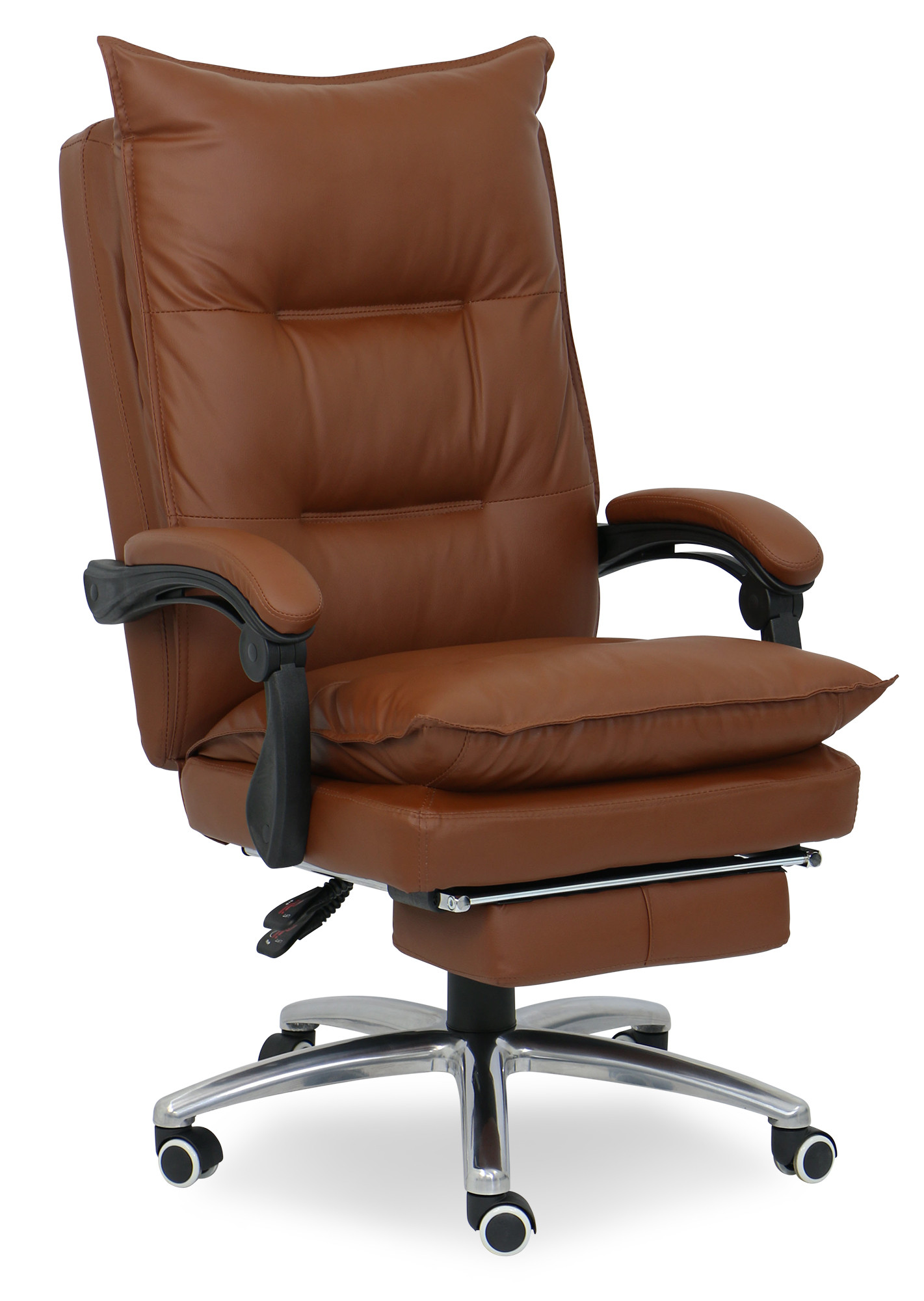 Deluxe Pu Executive Office Chair Brown  Furniture