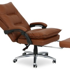 Pu Leather Office Chair Gym Exercises For Seniors Deluxe Executive Brown Furniture Home Decor Display Gallery Item 1