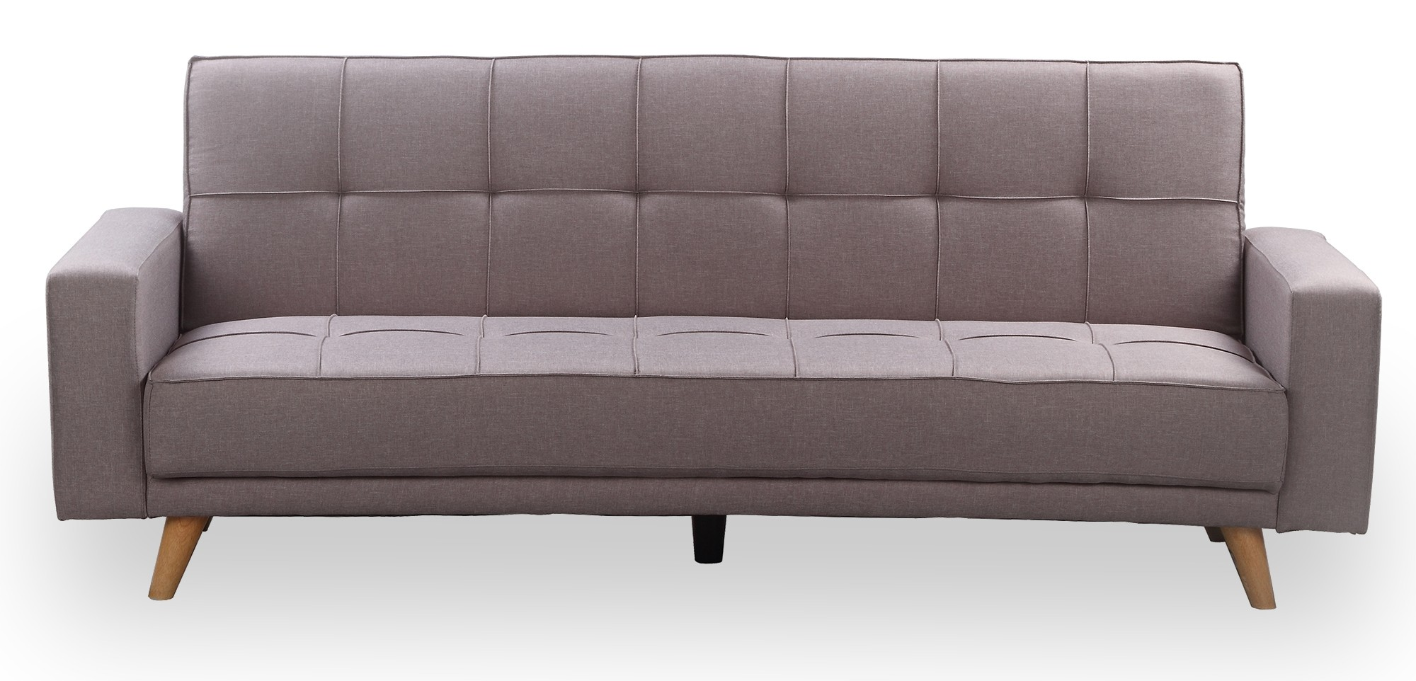 cozy sofa bed 3 seater pu leather with cup holders black grey furniture and home décor