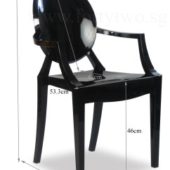 Ghost Chair Replica Pool Lounge Replacement Fabric Designer Louis Arm Black Furniture