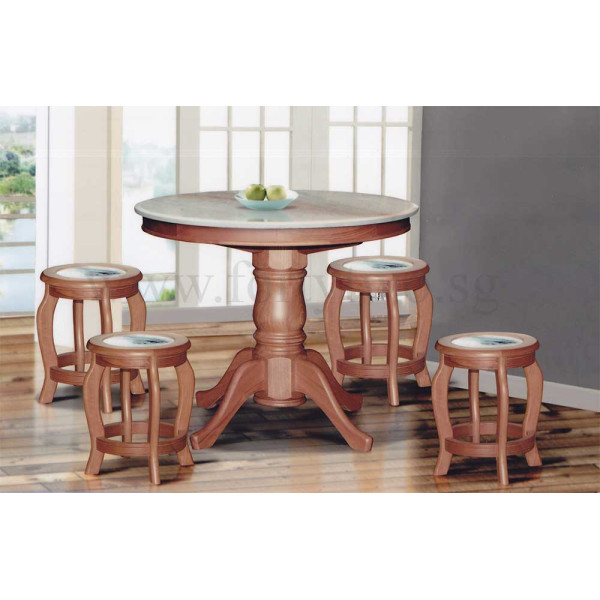 kitchen table stools big lots appliances dn888 round marble dining 3 5ft 6 seat top