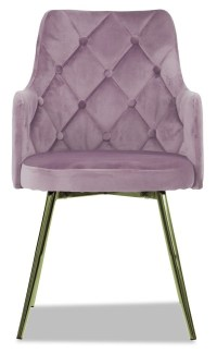 Laurie Chair with Gold Legs in Pale Purple - Armchairs ...