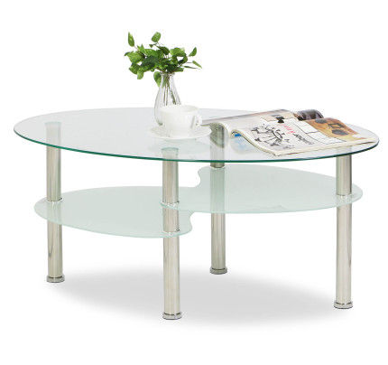 glass living room table cottage themed buy coffee tables furniture fortytwo singapore krystal eclipse tempered