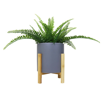 floor vases for living room singapore sears home furniture buy decor lifestyle products fortytwo faye flowerpot with bamboo leg