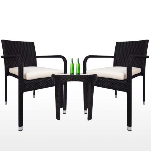 jardin 2 chair patio set white cushion