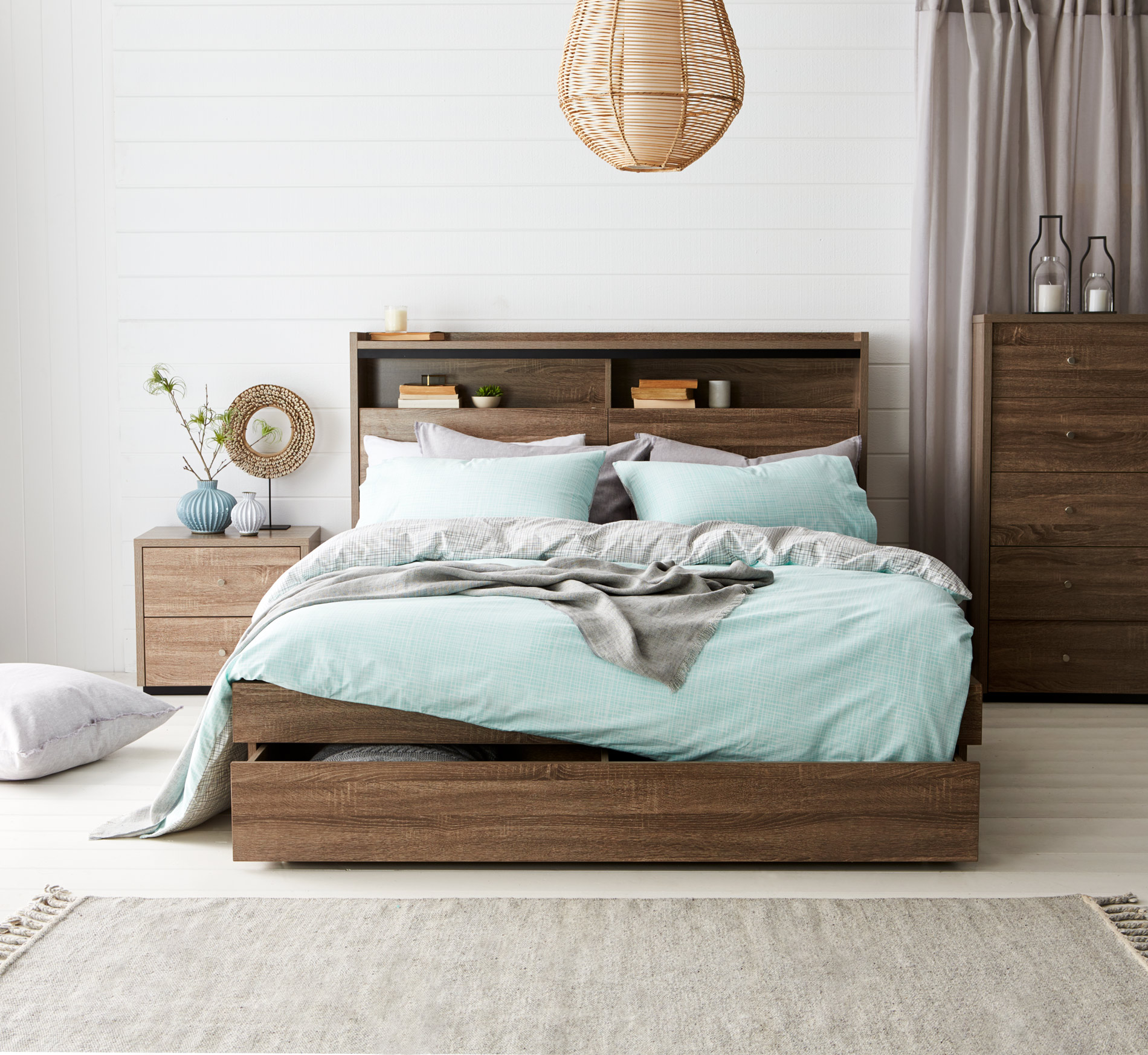 armidale bookend bed frame w bedhead
