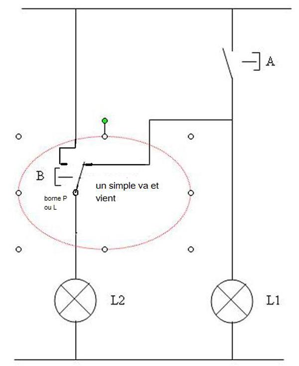 Branchement Électrique lampes avec interrupteur