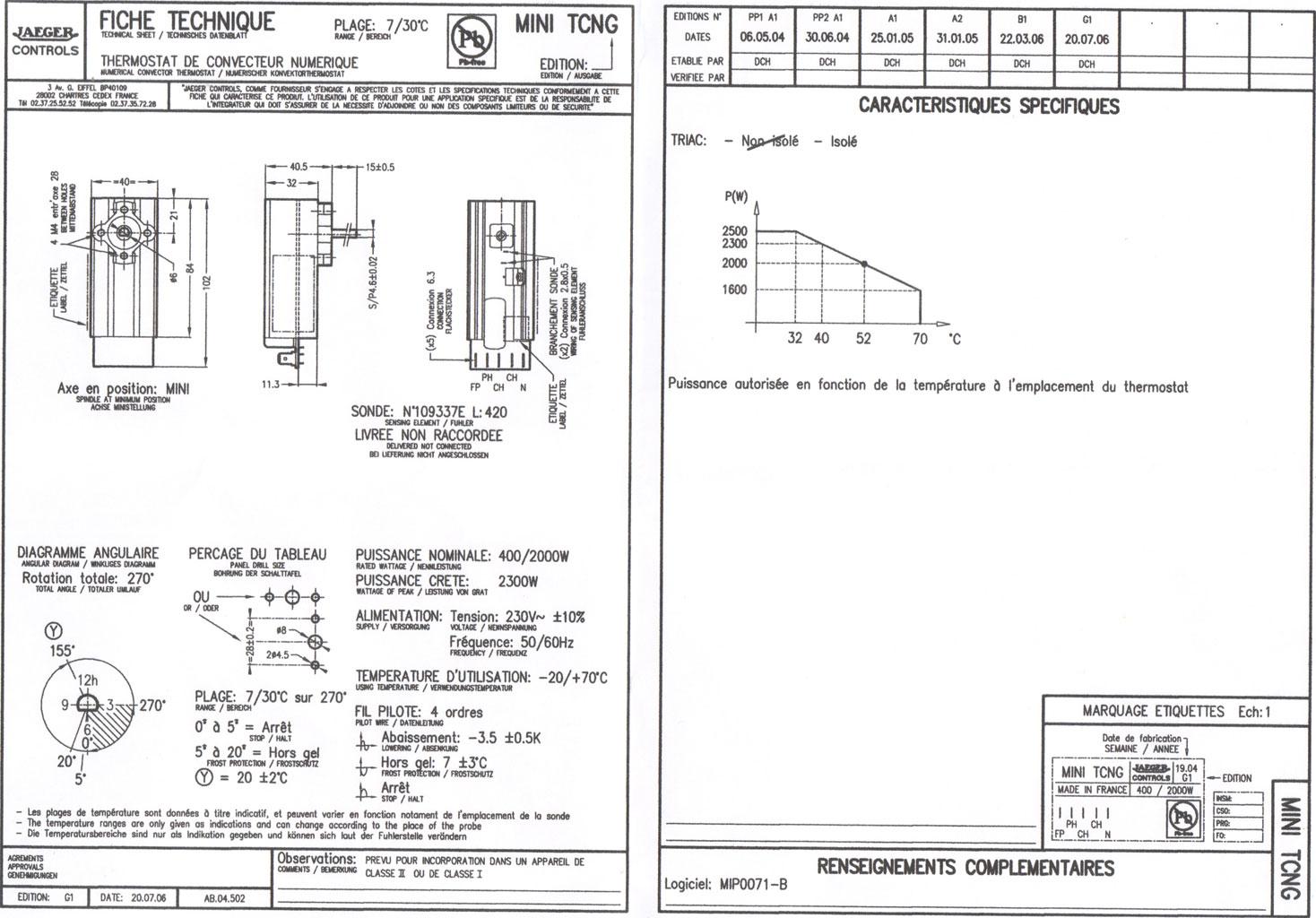 Comment Changer Le Thermostat D Un Radiateur Electrique A 5 Fils Conseils Branchement Thermostat