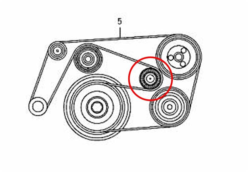 Remplacement Courroie accessoire ML270 (Page 1) / Classe