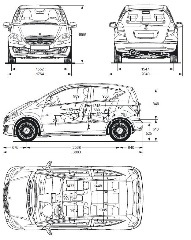 Mercedes Classe Dimensions