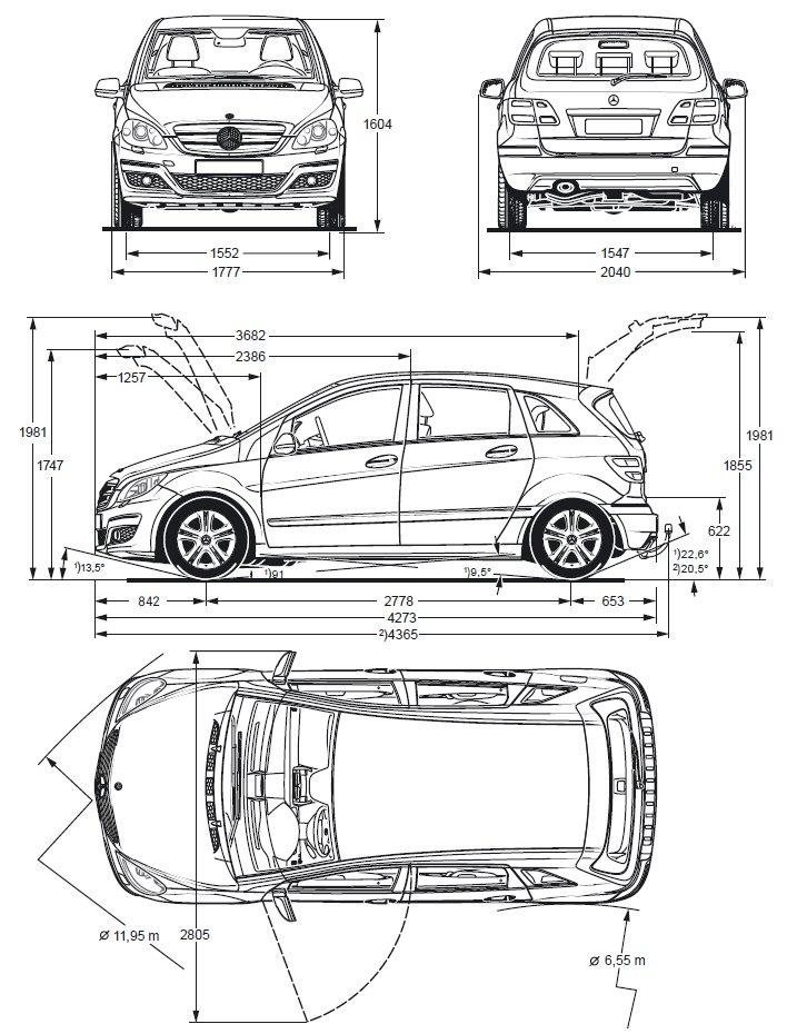 Dimensions Mercedes Classe A. dimension mercedes a