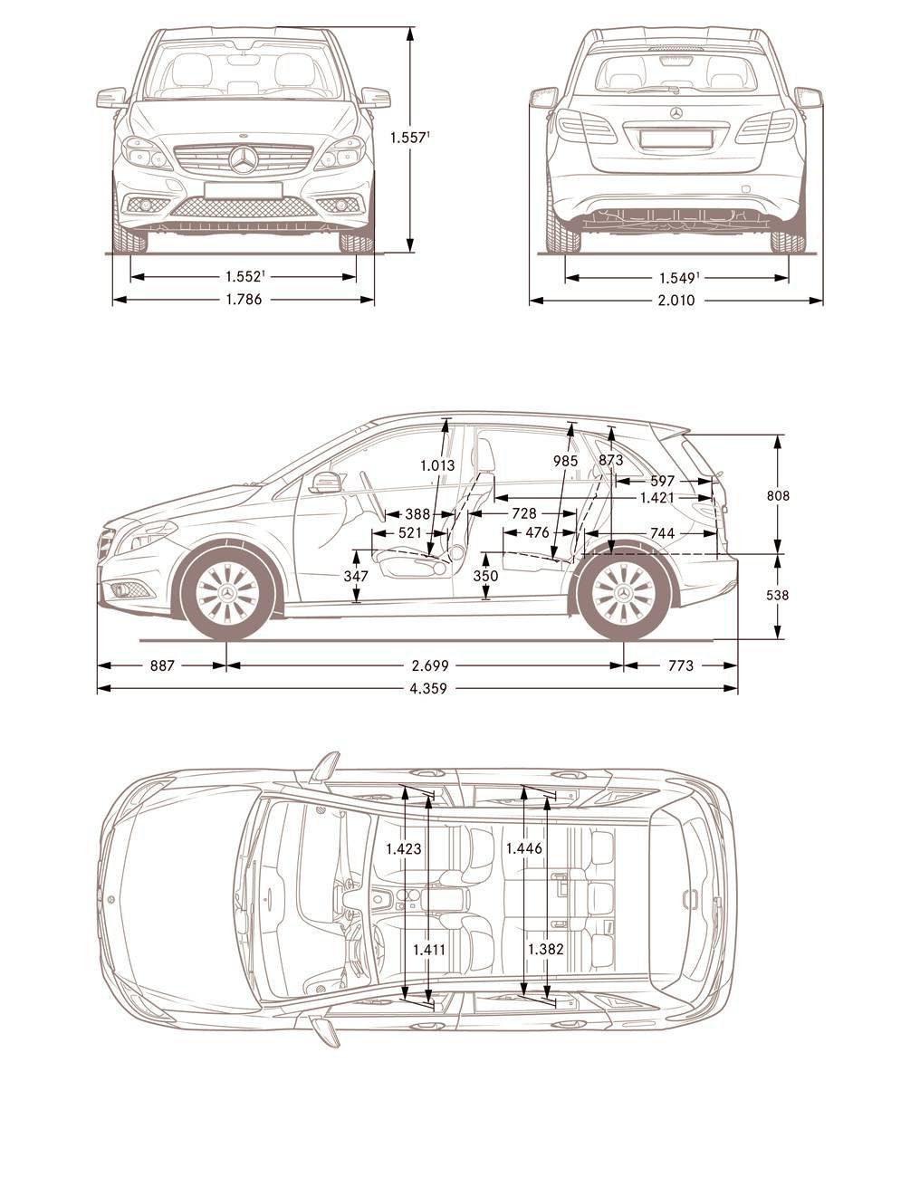 Mercedes Classe B Dimensions. mercedes classe b 2 fiche