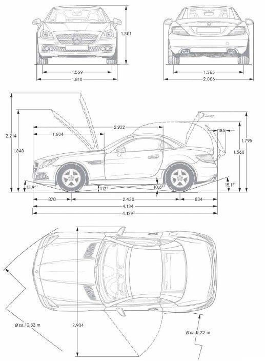 Dimensions Mercedes Classe A. old mercedes a class