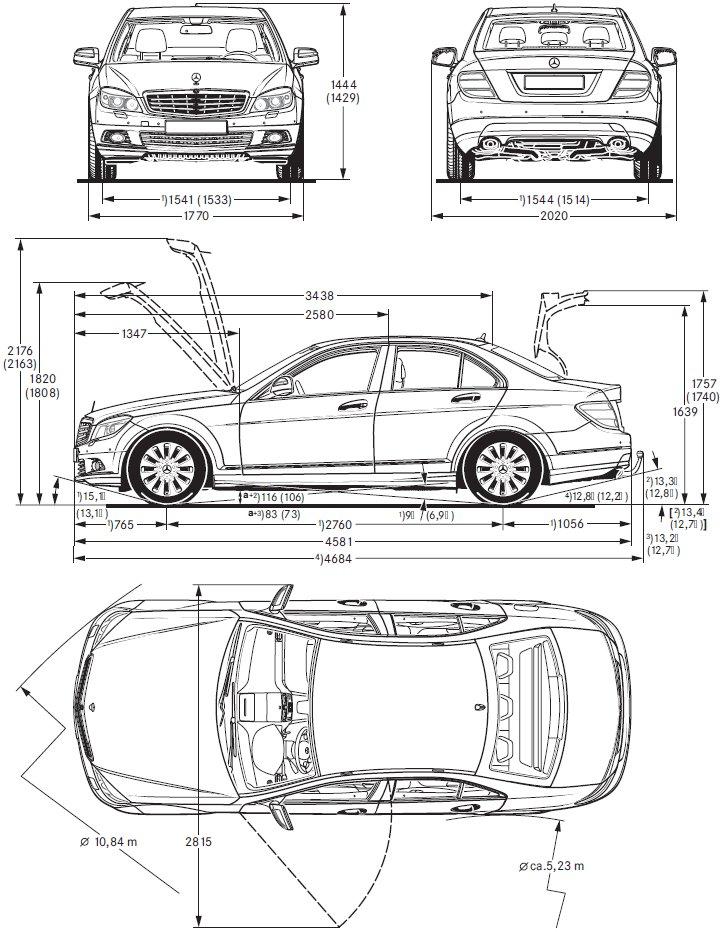 Dimension Mercedes Classe E. mercedes e cabriolet w212