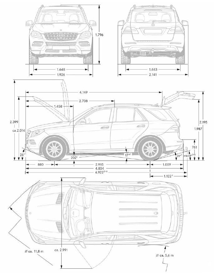 Présentation de la nouvelle Classe M W166 Mercedes-benz