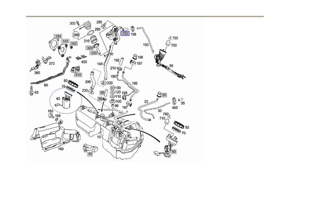 Capteur de vilebrequin w211 V6 224 ESSENCE (Page 1