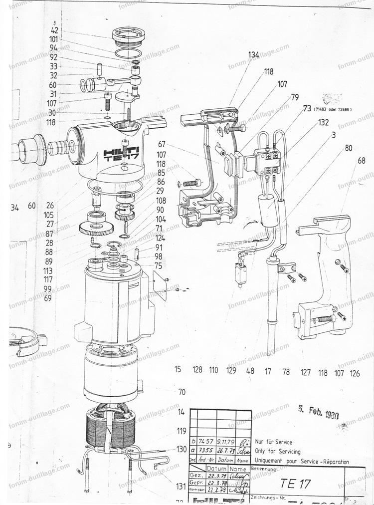 Hilti Te 17 Parts Diagram Hilti TE72 Parts Breakdown