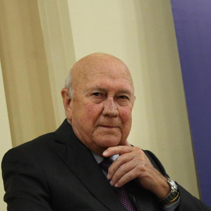 Frederik Willem de Klerk was a south african president