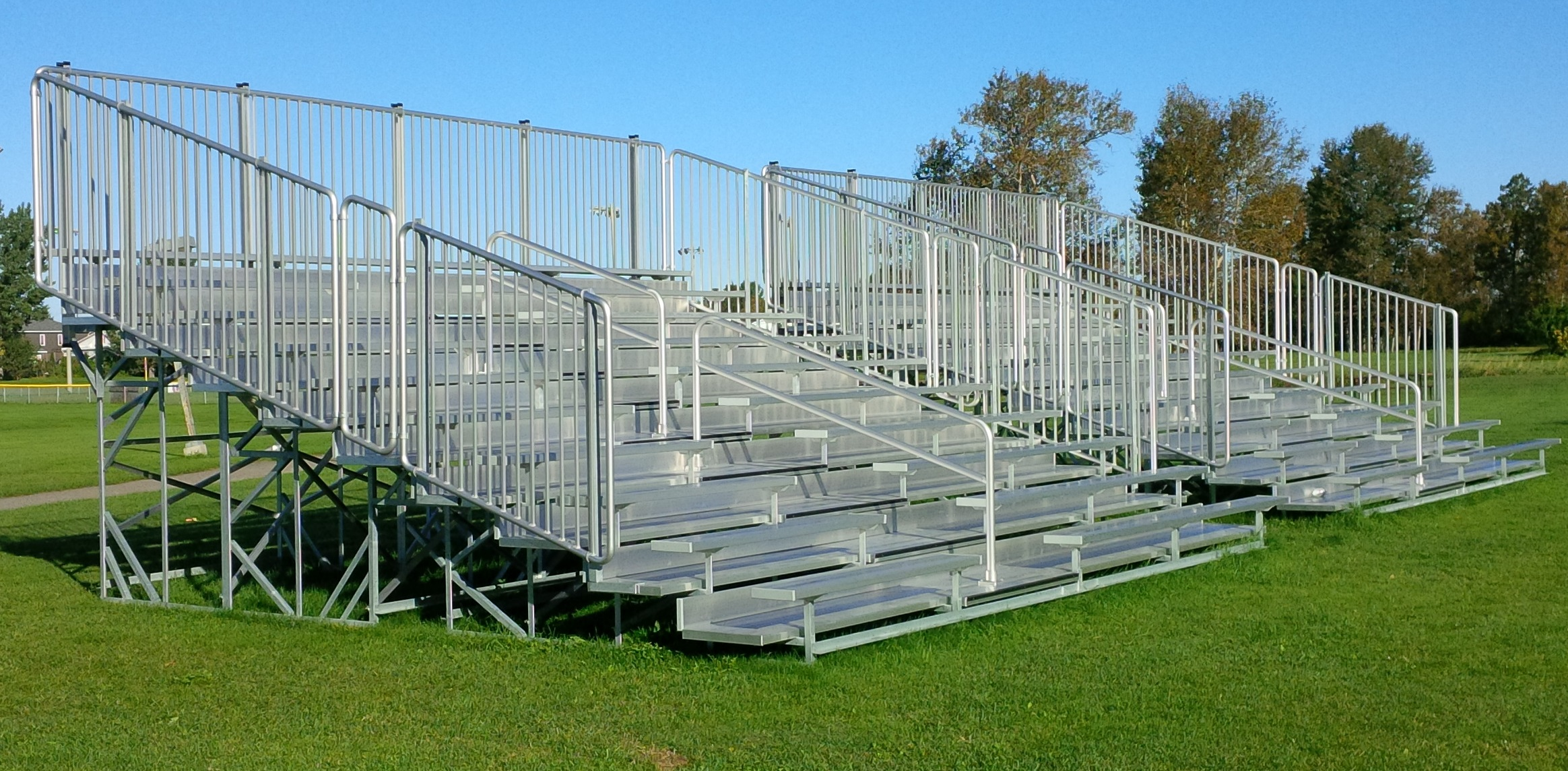 wheelchair volleyball swing chair replacement aluminum bleachers | fixed seating outdoor