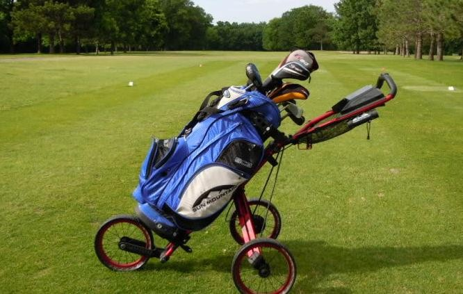 Golfing Equipment on field
