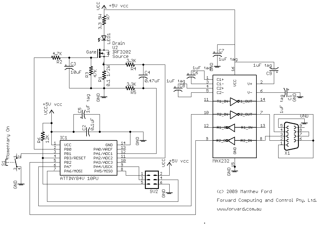 hight resolution of rs232 circuit description