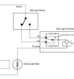 below is the wiring diagram for connecting the ble remote control light switch to the existing wall switch so that both the wall switch and the ble remote  [ 1217 x 788 Pixel ]