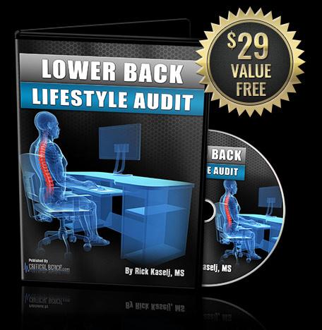 Lower Back Pain Lifestyle Audit
